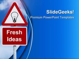 Fresh Ideas Signpost Symbol PowerPoint Templates And PowerPoint Backgrounds 0211