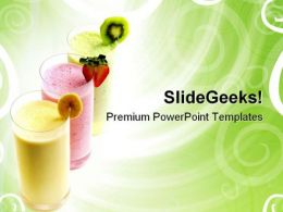 Fruit Smoothies Food PowerPoint Templates And PowerPoint Backgrounds 0511