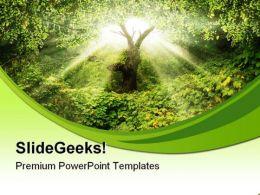 Garden Eden Nature PowerPoint Templates And PowerPoint Backgrounds 0411