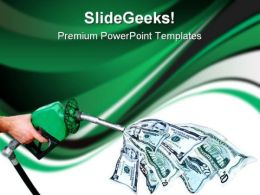 Gas Prices Hurting Finance PowerPoint Template 0610