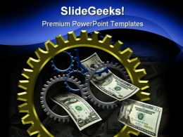 Gear And Money Business PowerPoint Templates And PowerPoint Backgrounds 0611