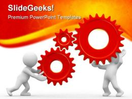 Gears01 Industrial PowerPoint Background And Template 1210