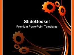 Gears Abstract Background PowerPoint Templates And PowerPoint Backgrounds 0811