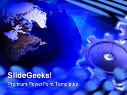 Gears And Globe Global PowerPoint Templates And PowerPoint Backgrounds 0611