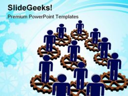 Gears And Men Industrial PowerPoint Templates And PowerPoint Backgrounds 0511