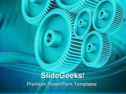 Gears Background Industrial PowerPoint Templates And PowerPoint Backgrounds 0611