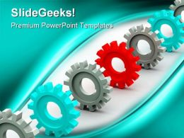 Gears Communication PowerPoint Templates And PowerPoint Backgrounds 0611