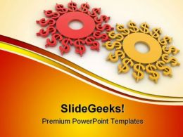 Gears Dollar Money PowerPoint Templates And PowerPoint Backgrounds 0511