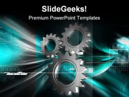 Gears Industrial Background PowerPoint Templates And PowerPoint Backgrounds 0611