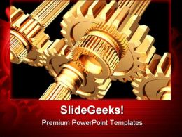 Gears Industrial PowerPoint Templates And PowerPoint Backgrounds 0611