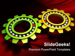 Gears Industrial PowerPoint Templates And PowerPoint Backgrounds 0811