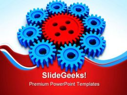 Gears Leadership Industrial PowerPoint Templates And PowerPoint Backgrounds 0711