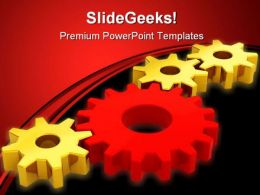 Gears Success Concept Industrial PowerPoint Templates And PowerPoint Backgrounds 0411
