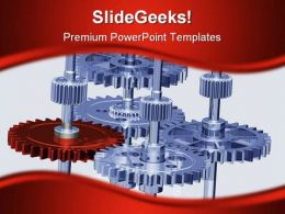 Gears Symbol PowerPoint Template 0810