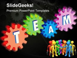 Gears With Teamwork Metaphor PowerPoint Templates And PowerPoint Backgrounds 0211