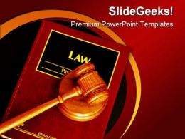 Geave Book Law PowerPoint Template 0810