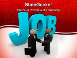 Get Job Business PowerPoint Backgrounds And Templates 1210