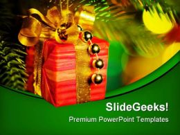 Gift Christmas PowerPoint Background And Template 1210