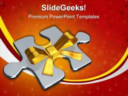 Gift For Solution Business PowerPoint Templates And PowerPoint Backgrounds 0611