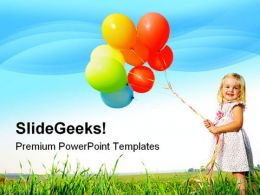 Girl With Balloon Holidays PowerPoint Templates And PowerPoint Backgrounds 0411