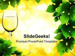 Glass Of Wine Lifestyle PowerPoint Templates And PowerPoint Backgrounds 0511