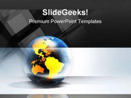 Global Blocks Business PowerPoint Template 1110