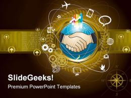 Global Business Handshake PowerPoint Templates And PowerPoint Backgrounds 0311
