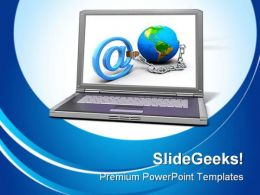 Global Communication Computer PowerPoint Templates And PowerPoint Backgrounds 0311
