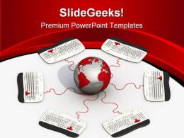 Global Connection Computer PowerPoint Templates And PowerPoint Backgrounds 0611