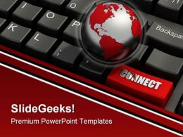 Global Connectivity Computer PowerPoint Templates And PowerPoint Backgrounds 0411