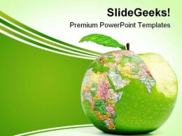 Global Consumption Globe PowerPoint Templates And PowerPoint Backgrounds 0311