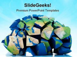 Global Destruction Earth PowerPoint Templates And PowerPoint Backgrounds 0411