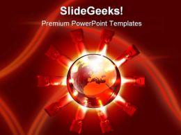 Global Destruction Globe PowerPoint Template 1110