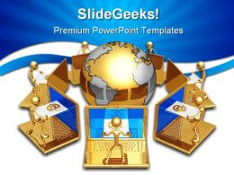 Global E Mail Computer PowerPoint Templates And PowerPoint Backgrounds 0411