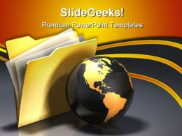 Global Folder Information Business PowerPoint Templates And PowerPoint Backgrounds 0311