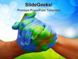 Global Handshake PowerPoint Templates And PowerPoint Backgrounds 0711