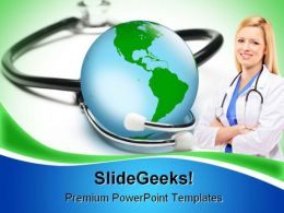 Global Health Medical PowerPoint Templates And PowerPoint Backgrounds 0211