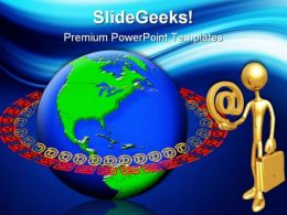 Global Internet Email Computer PowerPoint Templates And PowerPoint Backgrounds 0311