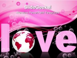 Global Love Abstract PowerPoint Templates And PowerPoint Backgrounds 0711