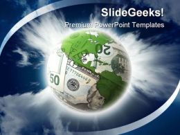 Global Money Business PowerPoint Backgrounds And Templates 0111
