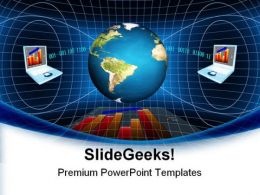 Global Network And Communication Business PowerPoint Templates And PowerPoint Backgrounds 0411
