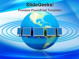 Global Network Concept Communication PowerPoint Templates And PowerPoint Backgrounds 0411