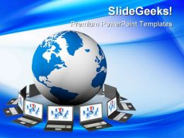 Global Network Internet PowerPoint Templates And PowerPoint Backgrounds 0411