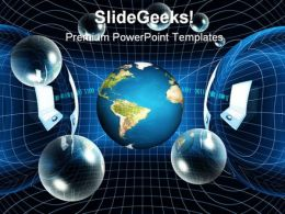 Global Network Science PowerPoint Template 1110