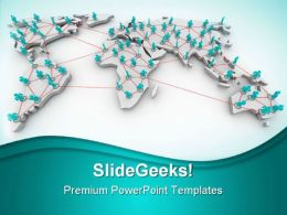 Global Networking01 Communication PowerPoint Templates And PowerPoint Backgrounds 0711