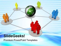 Global Networking02 Communication PowerPoint Templates And PowerPoint Backgrounds 0711