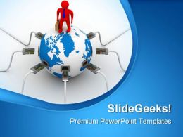 Global Networking Business PowerPoint Templates And PowerPoint Backgrounds 0711