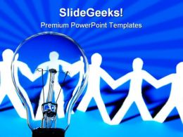 Global Paper Man Communication PowerPoint Templates And PowerPoint Backgrounds 0111