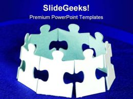 Global Puzzle Communication PowerPoint Templates And PowerPoint Backgrounds 0711
