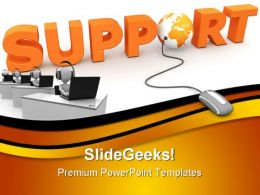 Global Support Communication PowerPoint Templates And PowerPoint Backgrounds 0111